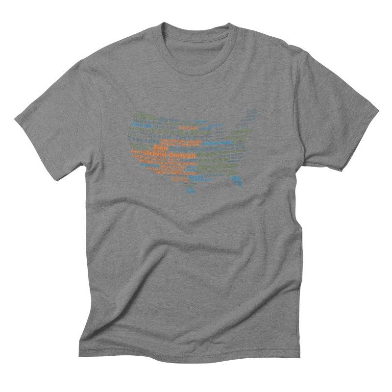 "The National Parks (""Earth"" Version) Men's T-Shirt by Virtual Running Club Merch"