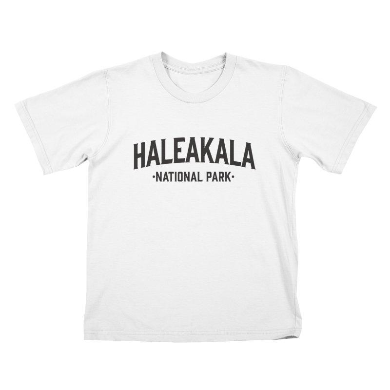 Haleakalā National Park Kids T-Shirt by Virtual Running Club Merch