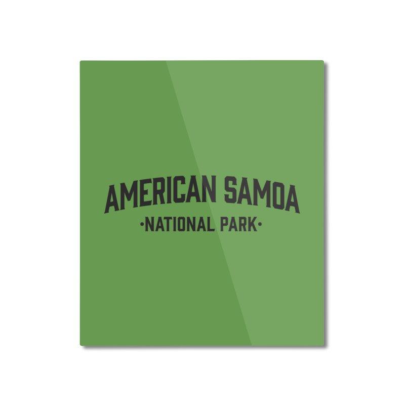 American Samoa National Park Home Mounted Aluminum Print by Virtual Running Club Merch