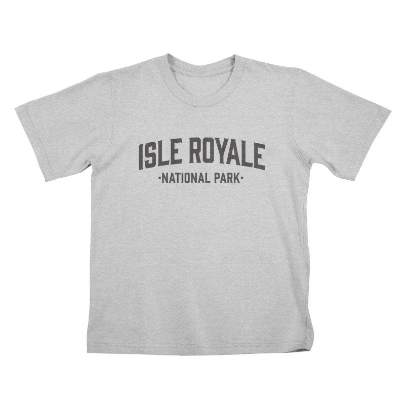 Isle Royale National Park Kids T-Shirt by Virtual Running Club Merch