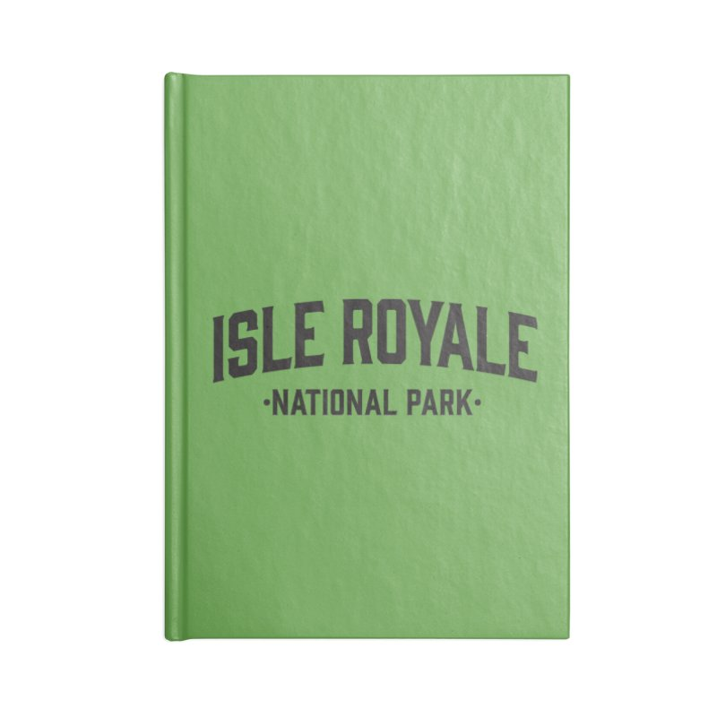 Isle Royale National Park Accessories Notebook by Virtual Running Club Merch
