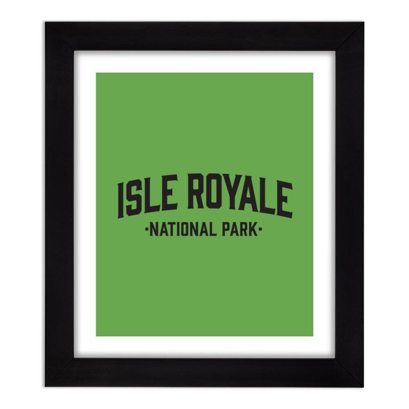 Isle Royale National Park Home Framed Fine Art Print by Virtual Running Club Merch