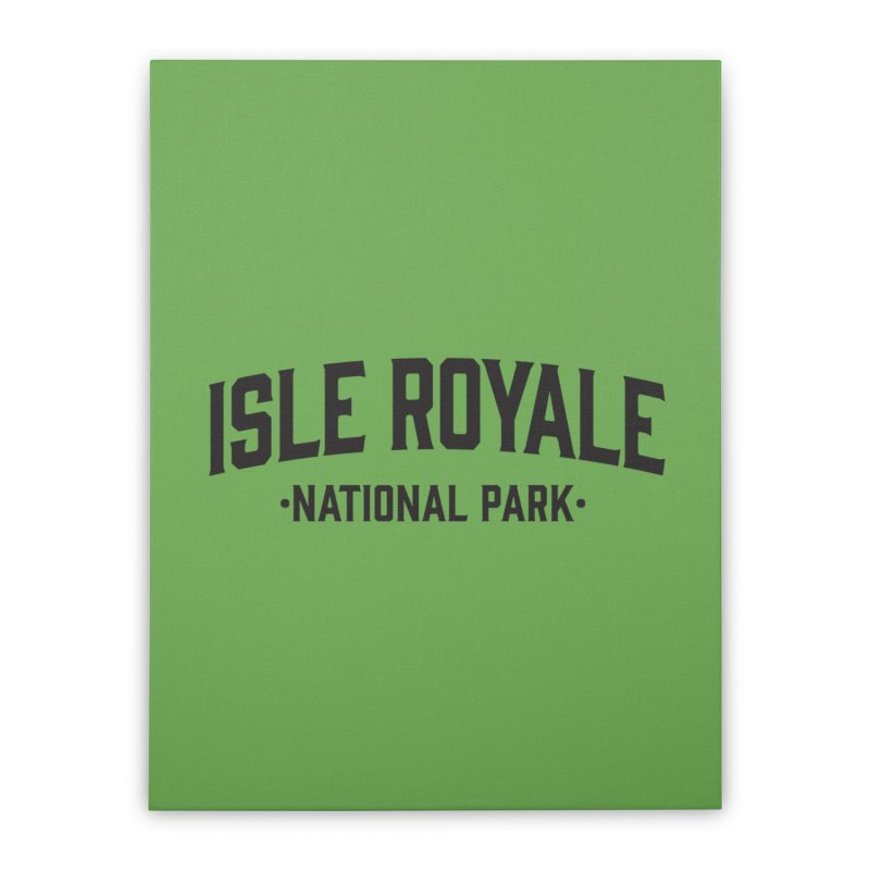 Isle Royale National Park Home Stretched Canvas by Virtual Running Club Merch