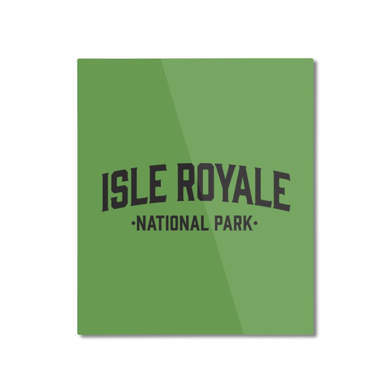 Isle Royale National Park Home Mounted Aluminum Print by Virtual Running Club Merch