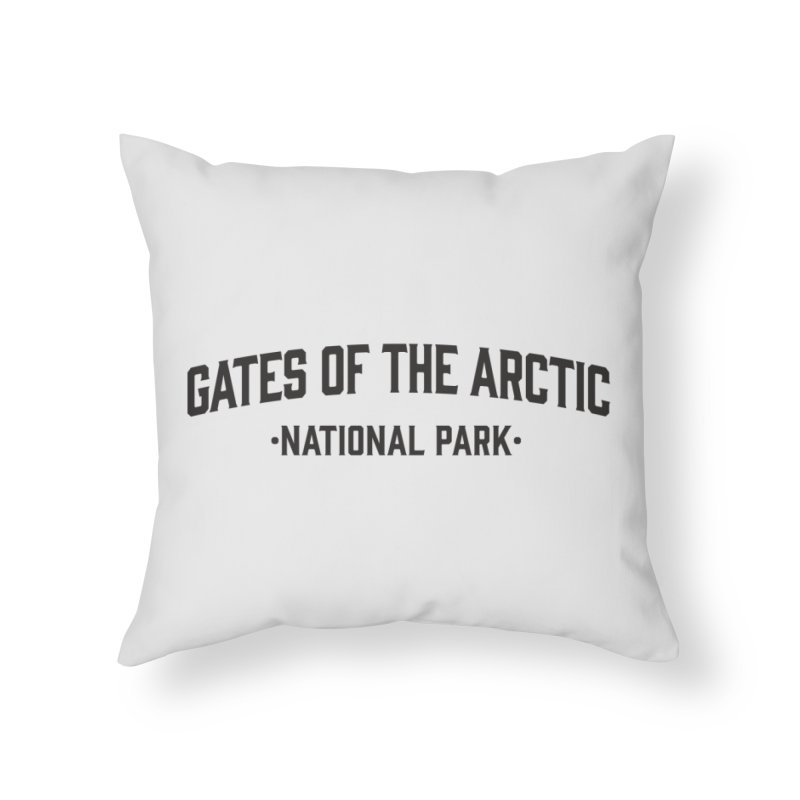Gates of the Arctic National Park Home Throw Pillow by Virtual Running Club Merch