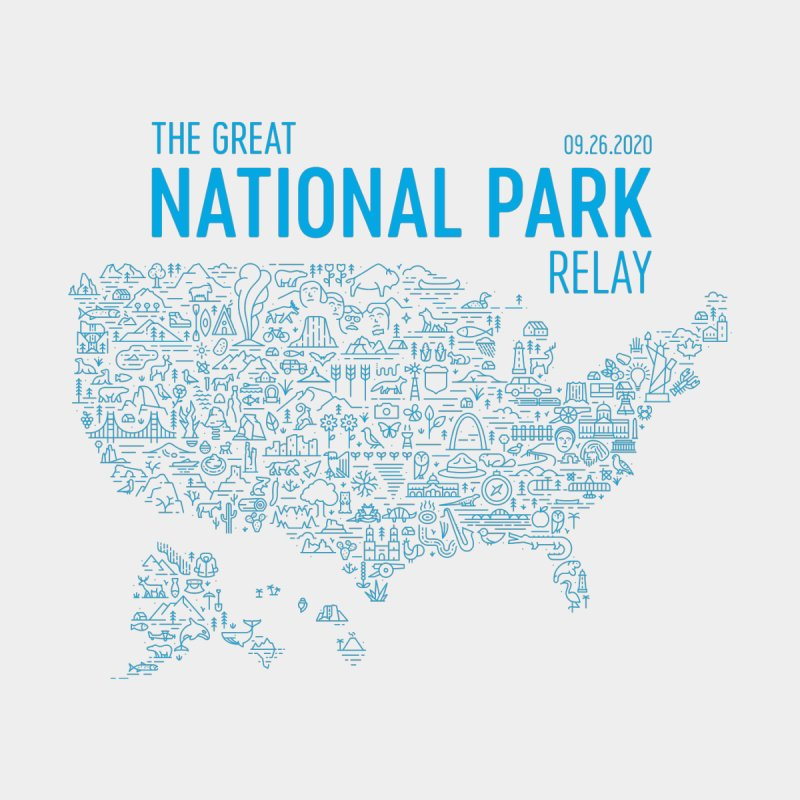 The Great National Park Relay Shirt Men's T-Shirt by Virtual Running Club Merch