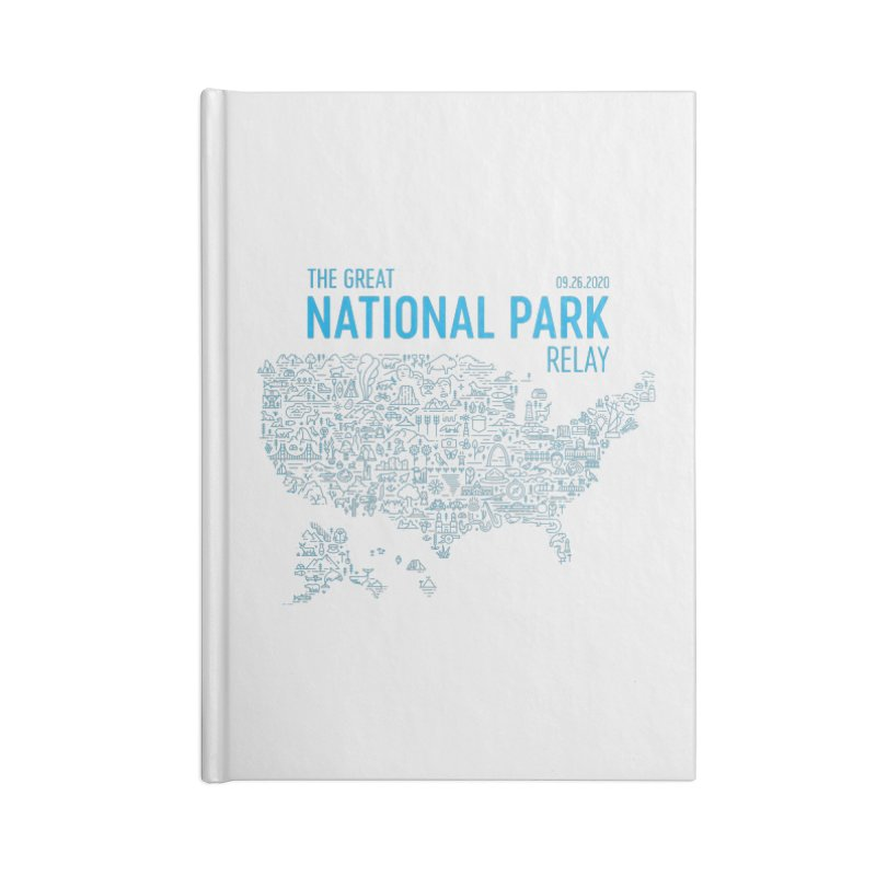 The Great National Park Relay Shirt Accessories Notebook by Virtual Running Club Merch