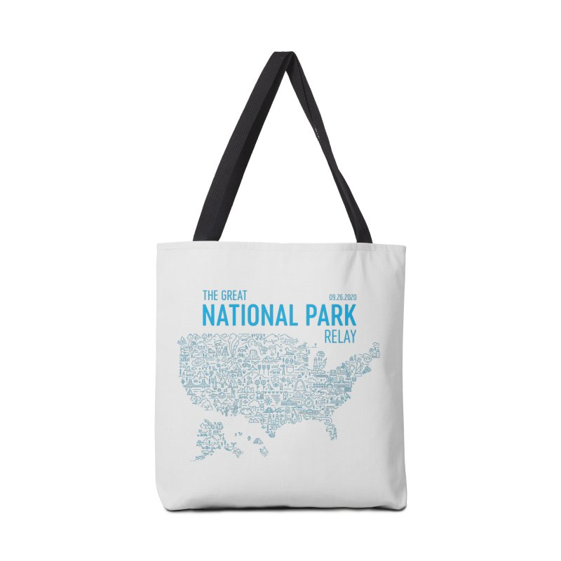 The Great National Park Relay Shirt Accessories Bag by Virtual Running Club Merch