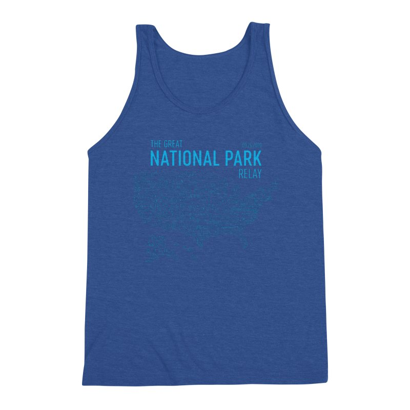 The Great National Park Relay Shirt Men's Tank by Virtual Running Club Merch