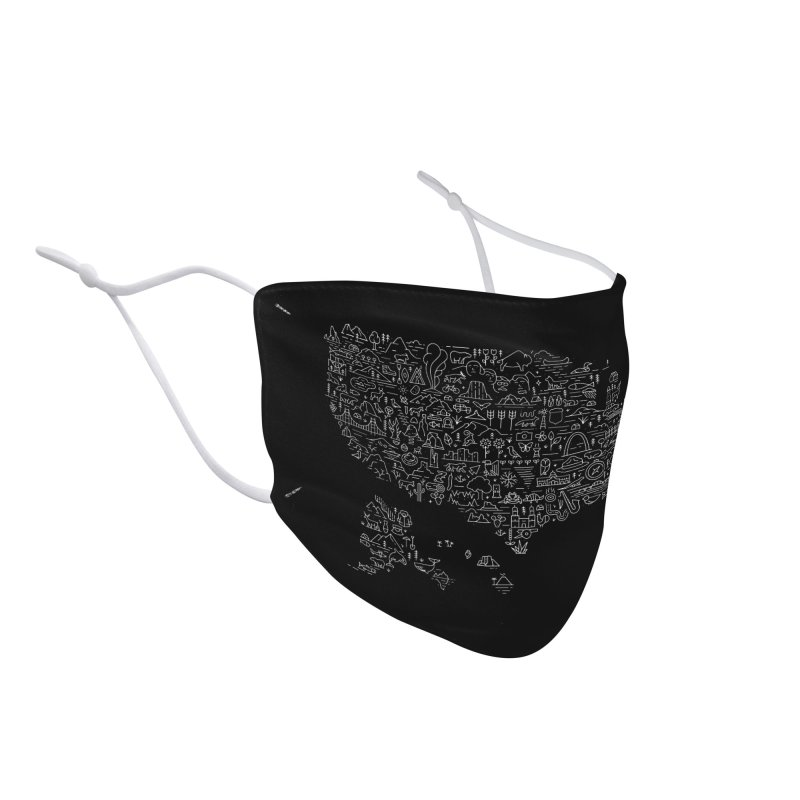 Great National Parks & Public Lands - White Accessories Face Mask by Virtual Running Club Merch