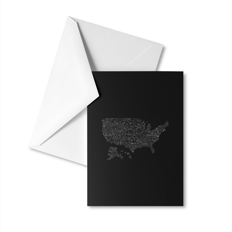 Great National Parks & Public Lands - White Accessories Greeting Card by Virtual Running Club Merch