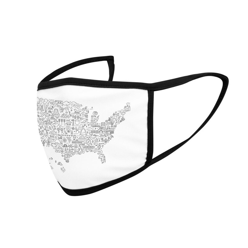 Great National Parks & Public Lands - Black Accessories Face Mask by Virtual Running Club Merch