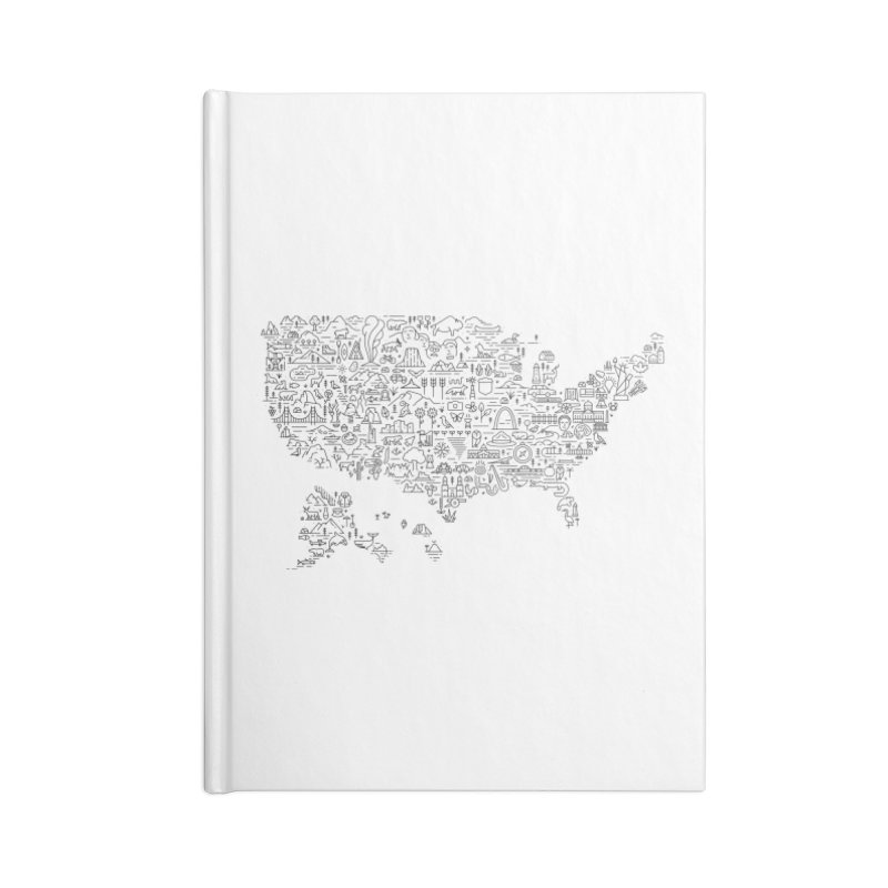Great National Parks & Public Lands - Black Accessories Notebook by Virtual Running Club Merch