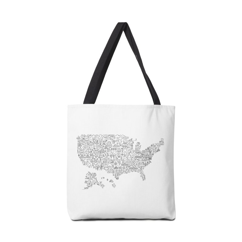 Great National Parks & Public Lands - Black Accessories Bag by Virtual Running Club Merch