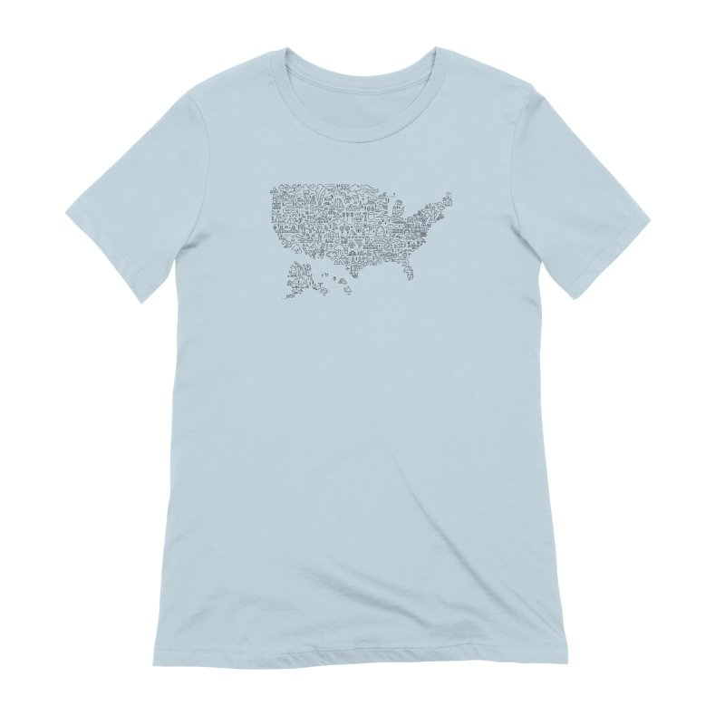Great National Parks & Public Lands - Black Women's T-Shirt by Virtual Running Club Merch