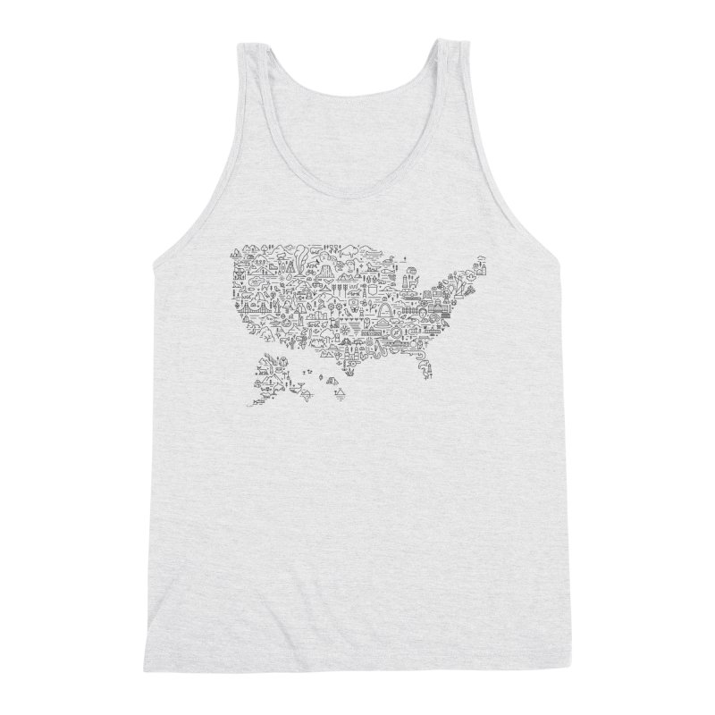 Great National Parks & Public Lands - Black Men's Tank by Virtual Running Club Merch