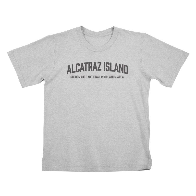 Alcatraz Island Kids T-Shirt by Virtual Running Club Merch