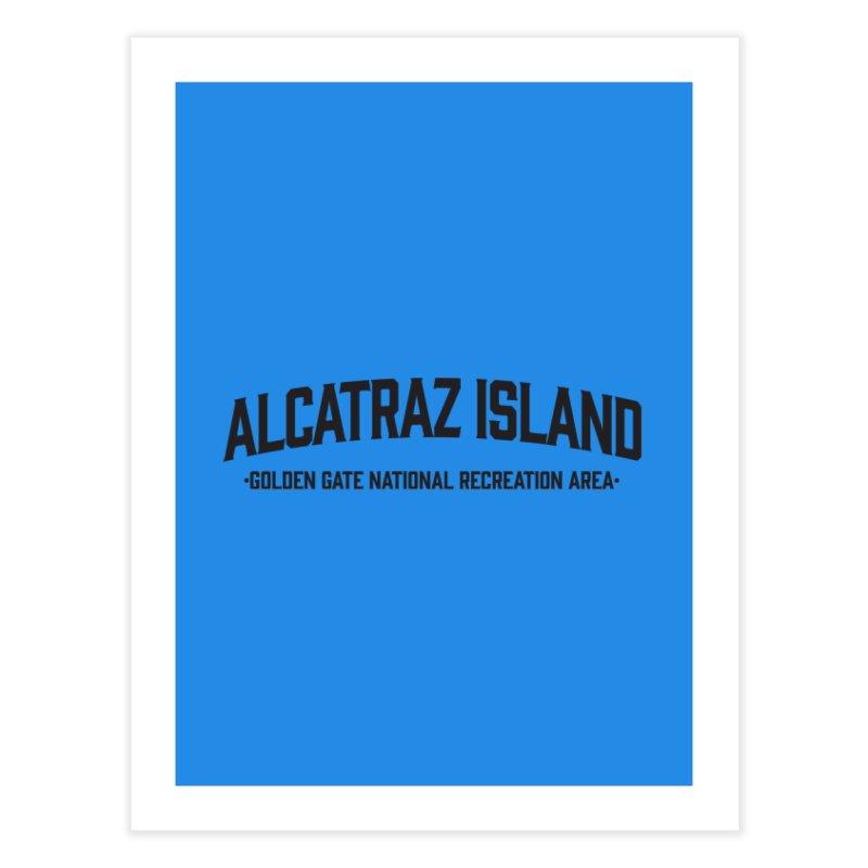 Alcatraz Island Home Fine Art Print by Virtual Running Club Merch