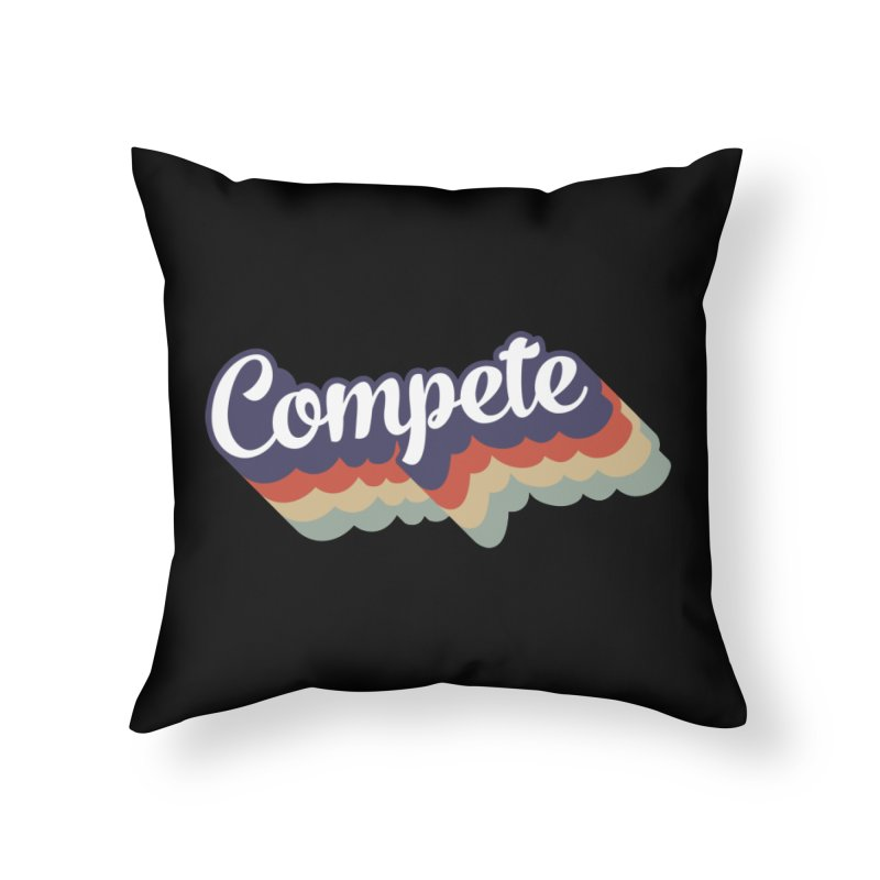 Compete Home Throw Pillow by Virtual Running Club Merch