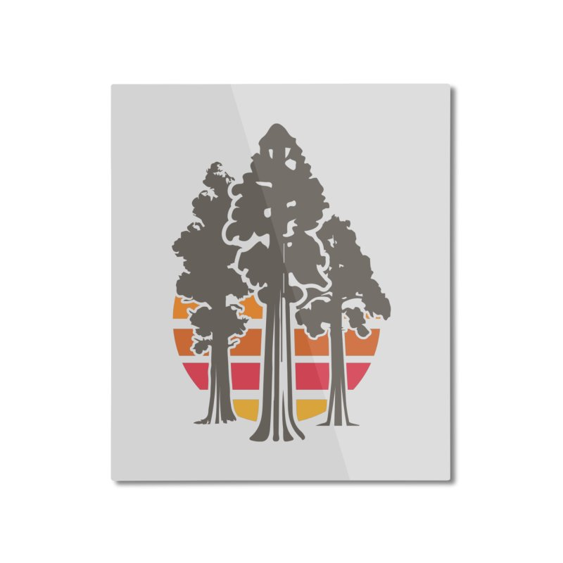 SEKI Trees Home Mounted Aluminum Print by Virtual Running Club Merch