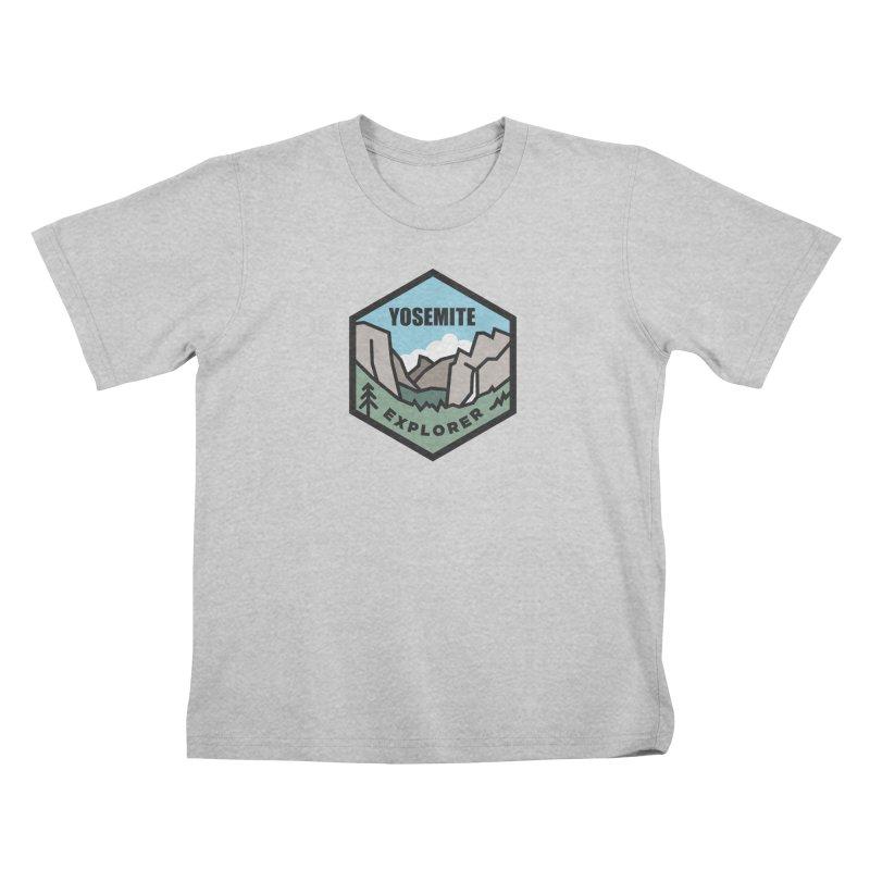 Yosemite Explorer Club Kids T-Shirt by Virtual Running Club Merch