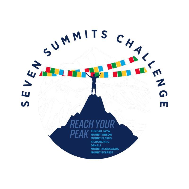 Reach Your Peak - 7 Summits Challenge Kids T-Shirt by Virtual Running Club Merch