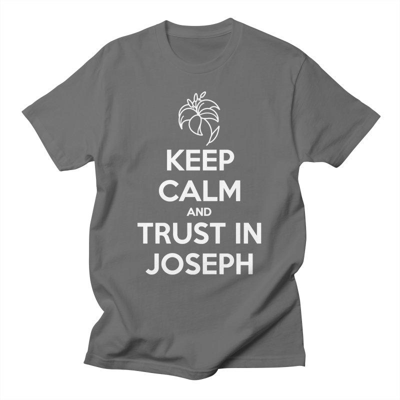 Keep Calm (white) Gents T-Shirt by Virtual St. Joseph Altar's Shop