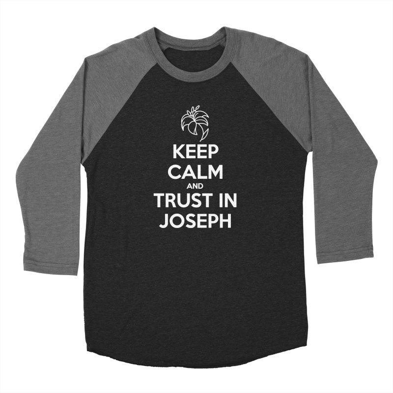 Keep Calm (white) Ladies Longsleeve T-Shirt by Virtual St. Joseph Altar's Shop