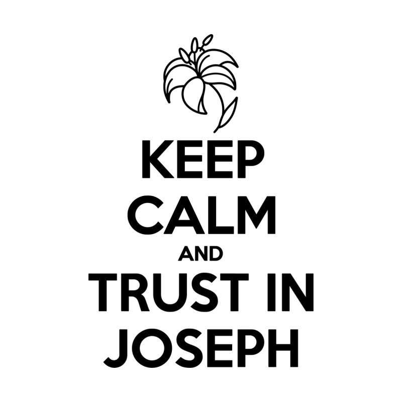 Keep Calm (black) Ladies Longsleeve T-Shirt by Virtual St. Joseph Altar's Shop