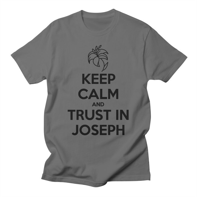 Keep Calm (black) Gents T-Shirt by Virtual St. Joseph Altar's Shop