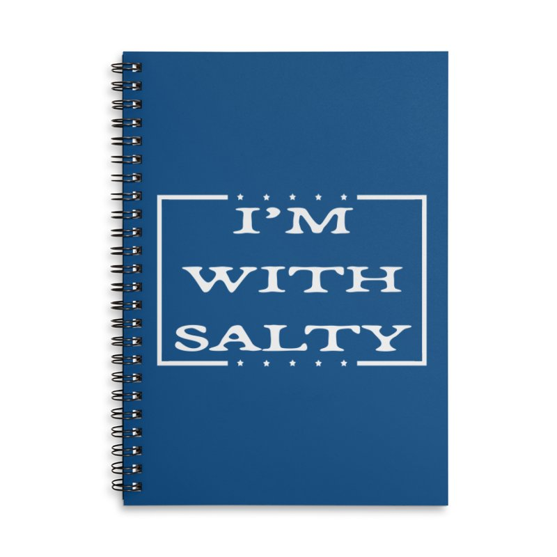 I'm With Salty Accessories Lined Spiral Notebook by Virtue - There's more to it