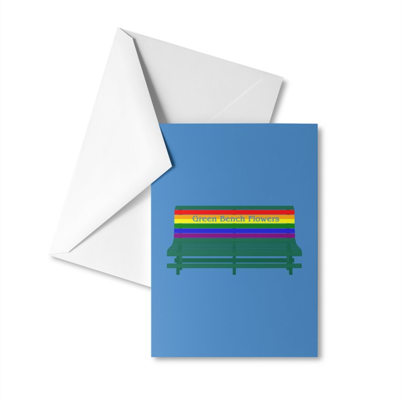 St Pete Green Bench - Pride Bench Accessories Greeting Card by Virtue - There's more to it