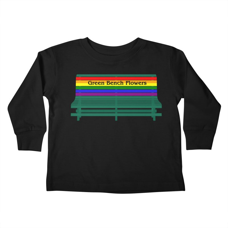 St Pete Green Bench - Pride Bench Kids Toddler Longsleeve T-Shirt by Virtue - There's more to it