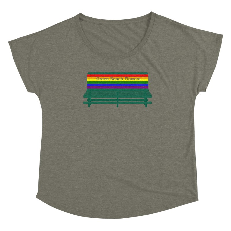St Pete Green Bench - Pride Bench Women's Scoop Neck by Virtue - There's more to it