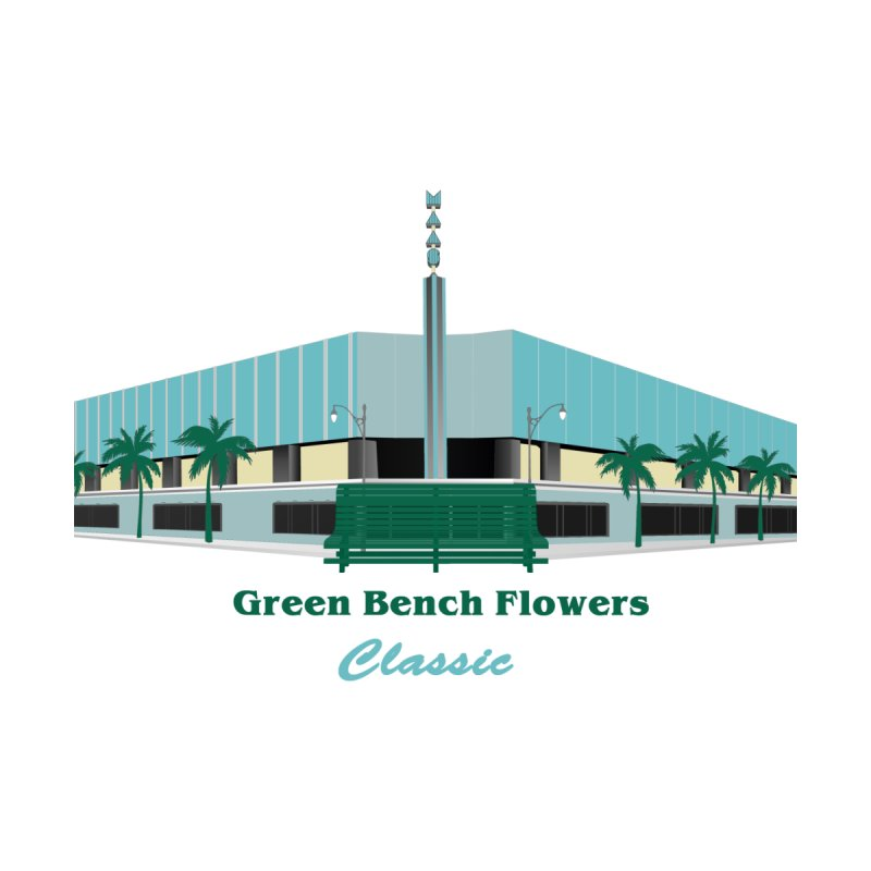 Green Bench Flowers - Classic Accessories Mug by Virtue - There's more to it