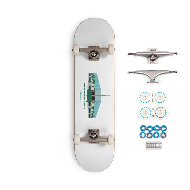 Green Bench Flowers - Classic Accessories Skateboard by Virtue - There's more to it