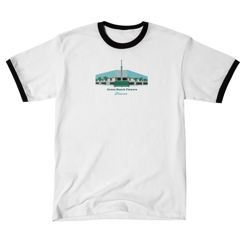 Green Bench Flowers - Classic Men's T-Shirt by Virtue - There's more to it