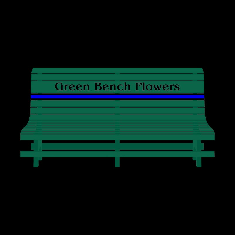 St Pete Green Bench - Thin Blue Line Men's T-Shirt by Virtue - There's more to it