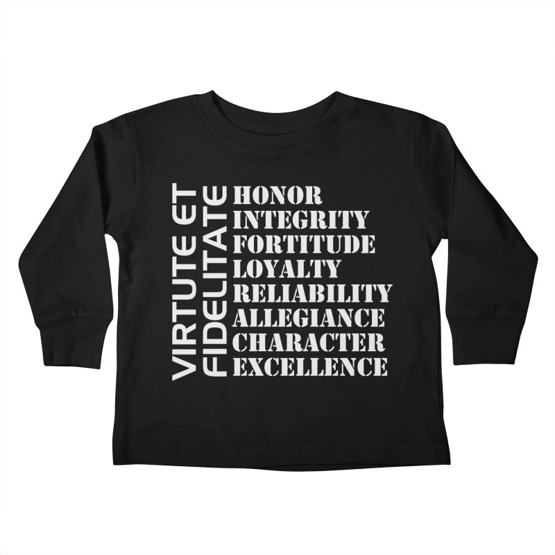 Define Yourself Kids Toddler Longsleeve T-Shirt by Virtue - There's more to it