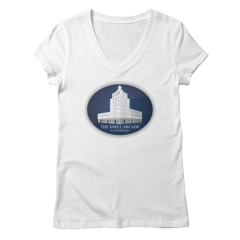 The Snell Arcade - St. Petersburg, FL Women's Regular V-Neck by Virtue - There's more to it