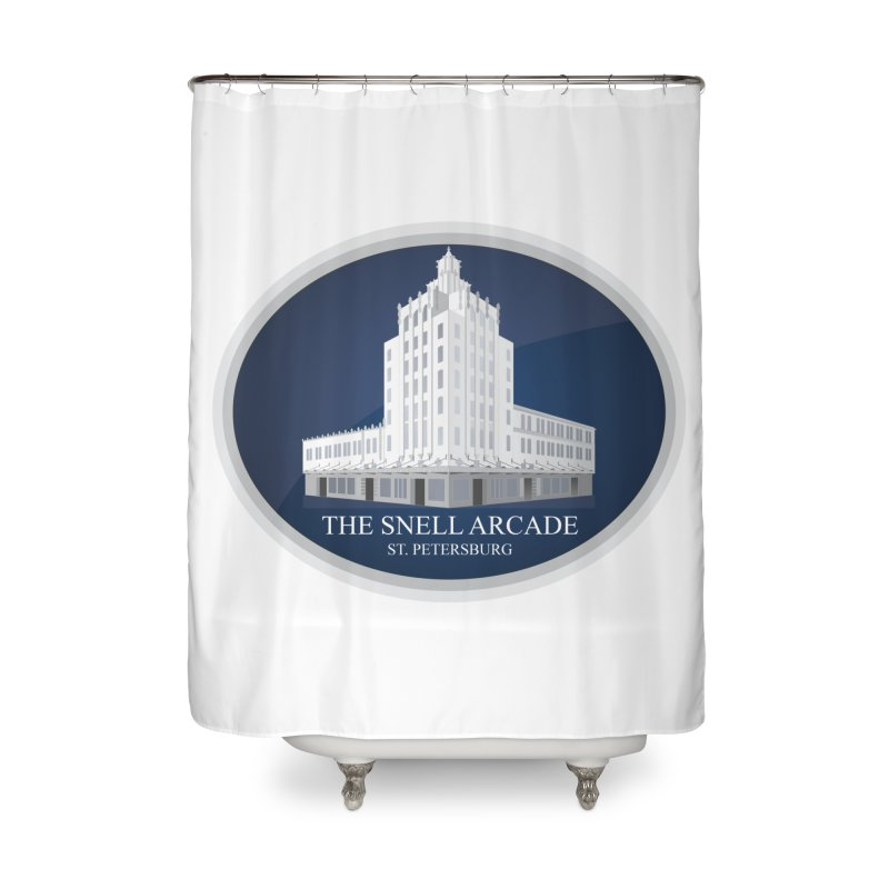 The Snell Arcade - St. Petersburg, FL Home Shower Curtain by Virtue - There's more to it