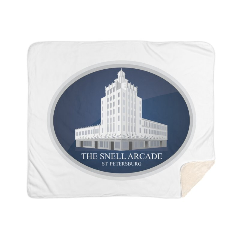 The Snell Arcade - St. Petersburg, FL Home Sherpa Blanket Blanket by Virtue - There's more to it