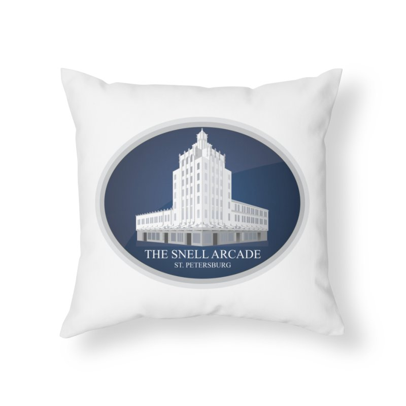 The Snell Arcade - St. Petersburg, FL Home Throw Pillow by Virtue - There's more to it
