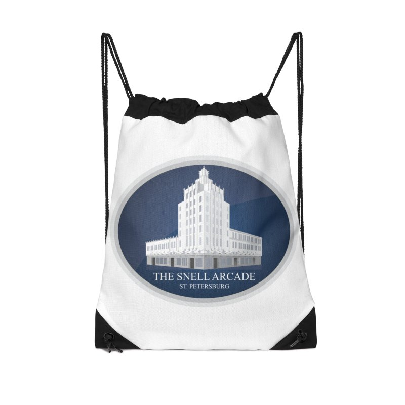 The Snell Arcade - St. Petersburg, FL Accessories Drawstring Bag Bag by Virtue - There's more to it