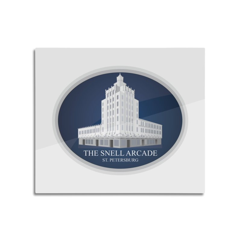 The Snell Arcade - St. Petersburg, FL Home Mounted Aluminum Print by Virtue - There's more to it