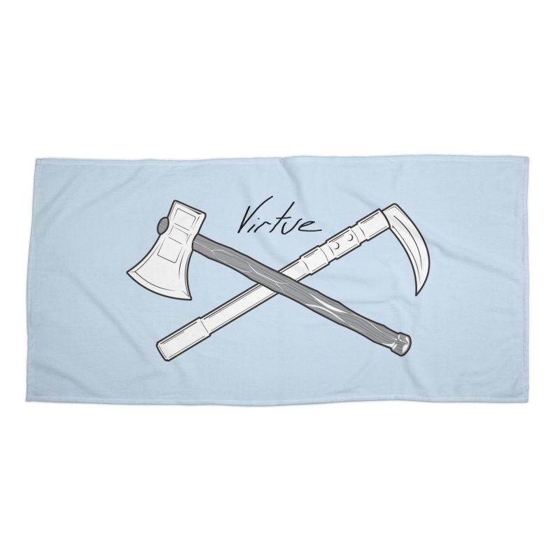 Warrior - I Am Series Accessories Beach Towel by Virtue - There's more to it