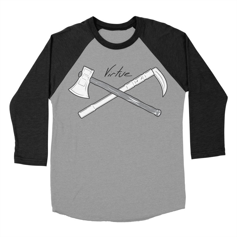 Warrior - I Am Series Men's Baseball Triblend Longsleeve T-Shirt by Virtue - There's more to it