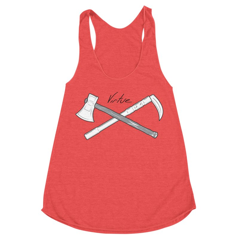 Warrior - I Am Series Women's Racerback Triblend Tank by Virtue - There's more to it