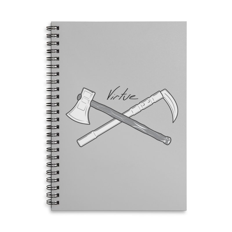 Warrior - I Am Series Accessories Lined Spiral Notebook by Virtue - There's more to it