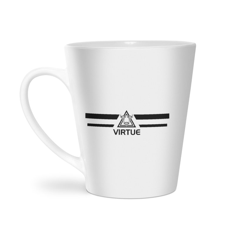 Triangles and Stripes Accessories Latte Mug by Virtue - There's more to it